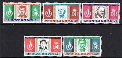 1968 DOMINICA HUMAN RIGHTS YEAR SG209-213 mint unhinged