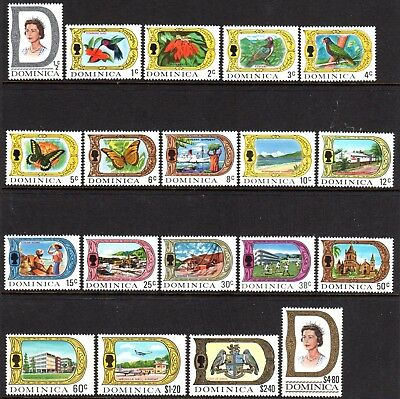 1969 DOMINICA DEFINITIVES PICTORIALS SG272-290 mint unhinged