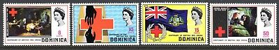 1970 DOMINICA CENTENARY BRITISH RED CROSS SG317-320 mint unhinged