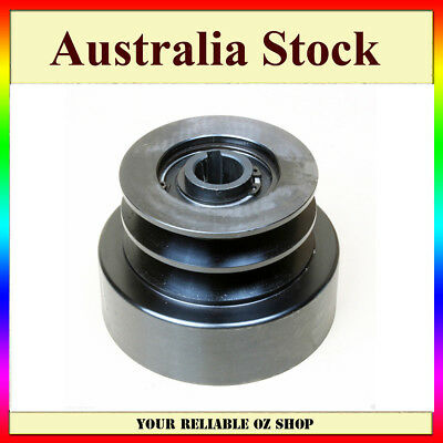"Heavy Duty Centrifugal Clutch 25.4mm 1"" Bore DUAL PULLEY 8HP-16HP Engine 200630"