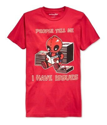 We Love Fine Mens Deadpool I Have Issues Graphic T-Shirt