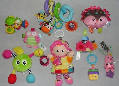 Baby Girl Toy Lot Lamaze Doll Fisher Price Taggies Soft Rattles
