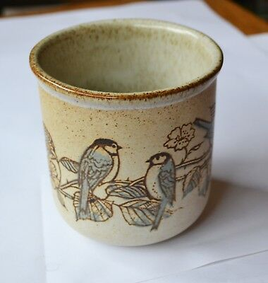 Dunoon Ceramics Scotland Sugar Bowl or Planter - Blue Tits on Brambles pattern
