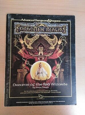 AD&D 1st Ed. Dreams of the Red Wizards Steve Perrin NO MAP