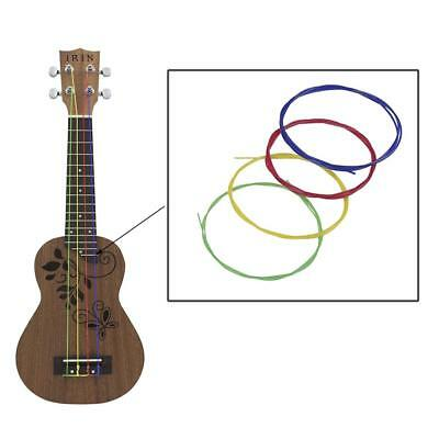 4× Multi-color Ukulele Strings Nylon Guitar Replacement for Ukulele Universal