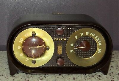 Zenith 1948 Model # 5-G03 Clock Radio for Repair Need Resistor Like One Attached