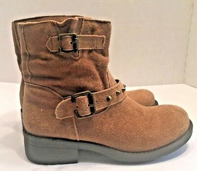 8ce7d988c3 CATHY JEAN WOMEN'S Light Brown Suede Ankle Boots Size 6 EUC - $27.00 ...