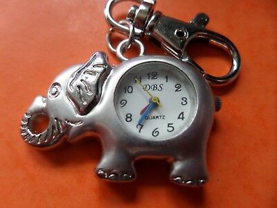 Elephant Keyring Watch   NEW Battery Fitted Before Posting   FREE P&P