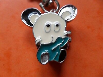 Cartoon Mouse Keyring Watch   NEW Battery Fitted Before Posting   FREE P&P