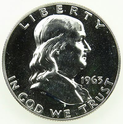 1963 Proof Franklin 90% Silver Half Dollar (B01)
