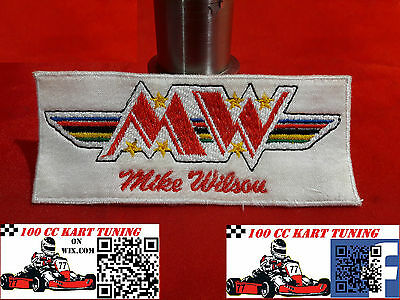 "Mike Wilson ""MW"" original Embroidered Patch Badge 100cc F100 Retro  90's"