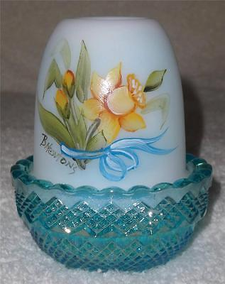MOSSER Fairy Glimmer Light Lamp with Hand Painted Daffodils