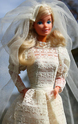 Barbie #9907 Beautiful Bride,Superstar,OVP,Schuhe,Ständer,Taiwan,Ohrringe,Ring