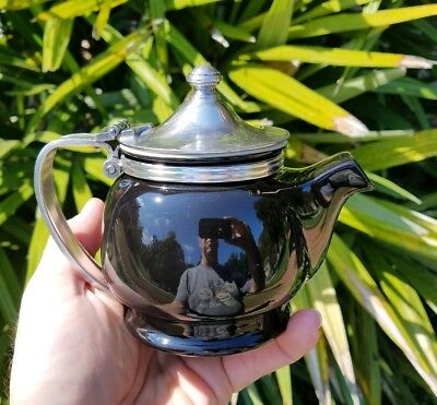 Early Signed Silver Plate Railroad/Hotel  Teapot - Excellent Condition!