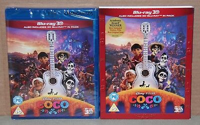 COCO 3D (3D/2D Blu-ray, 2018) Optional Slipcover, Brand New, Sealed, Region Free
