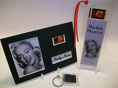 Marilyn Monroe Rare 3 Piece Movie Film Cell Memorabilia Collection Gift Set Lot