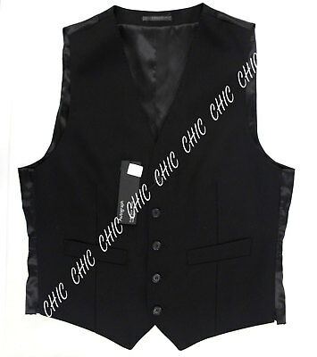 Marks & Spencer Mens Autograph Pure New Wool Tailored Fit Waistcoat Black RRP£65