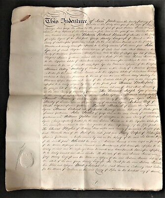 INDENTURE of 1792 BARWELL & MOODY LONGCROFT 30 PAGES EACH with SHILLING REVENUE