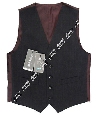 Marks & Spencer Mens Collection Wool Blend Regular Fit Waistcoat Charcoal RRP£49