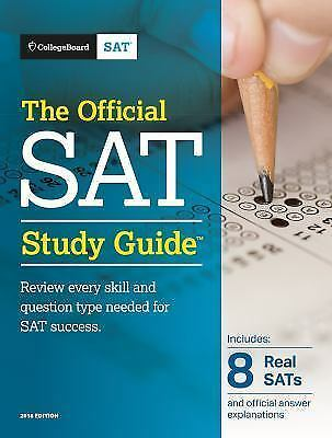 The Official SAT Study Guide, 2018 Edition by The College Board Brand New Never