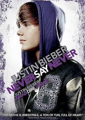 Justin Bieber: Never Say Never (DVD, 2011, Canadian) Brand New