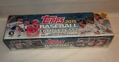 TOPPS 2015 Complete Baseball Cards Set Series 1 & 2 + 5 Card Pack Rookie NIB!
