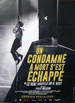 Un Condamne A Mort S'est Echappe / A Man Escaped - Bresson -Reissue Movie Poster