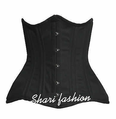 Heavy Duty 26 Double Steel Boned Waist Training COTTON Underbust Corset #8022-TC