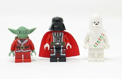 Rare LEGO Stars Wars Lot of 3 Authentic Christmas Holiday Minifigures - Vader