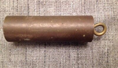 Antique Clock Weight Brass Cylinder 342grams 90x25mm