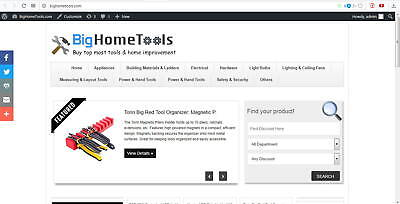 Automated Home Tools Online Store - Business Opportunity Ready To Go Website