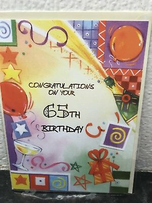 65th Birthday Card Sixty Five Today Age 65