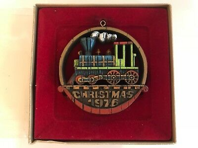 Hallmark 1976 Tree Trimmer Collection Christmas Ornament Train