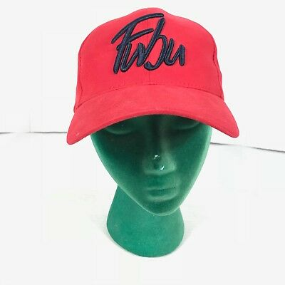57c3bd81370 Vintage Fubu Hat baseball flat Hip Hop rap 90s Spell Out Red Size Medium