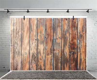Retro Brown Wood Board Plank 7x5ft Backgrounds Photography Vinyl Photo Backdrops