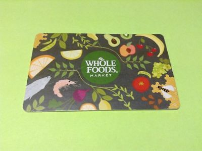 NEW Unused $10 Whole Foods Gift Card Certificate Grocery shopping FREE SHIPPING