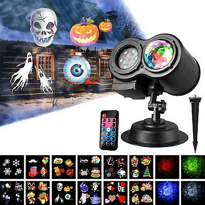 Led Projector Lights, Wave Projector Light with 12 Slides Pattern 2 in 1