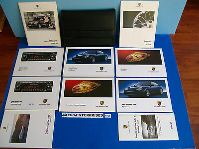 2003 Porsche 911 Carrera C2 C4 C4S Coupe Targa Cabriolet Owner Manuals Set K163