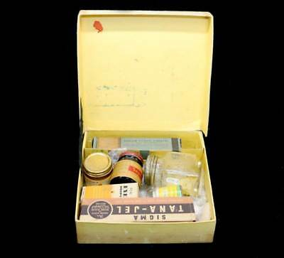 Vintage NSC National Service Chemists first aid kit in original box with content