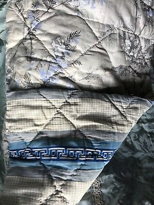 """Stunning Antique french Shabby Chic Panel Quilted fabric Early c1900 19""""/36"""""""