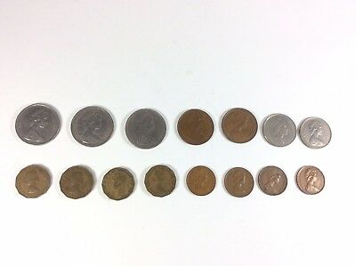 United Kingdom UK Great Britain Lot Of 15 Three Pence New Pence New Penny Coins