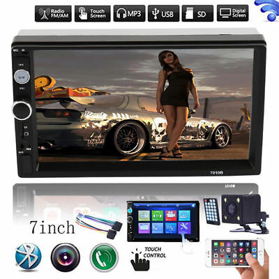 "7"" Double 2Din Bluetooth Car Stereo Radio HD MP5 Player Touch Screen&Rear Camera"