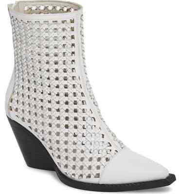 1876932d84989 LAST ONE! JEFFREY Campbell white cutout Waven woven ankle boots sz ...
