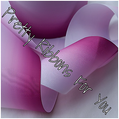"""Ombre 3/"""" wide grosgrain ribbon the listing is for 2 yards total"""