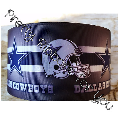 "Dallas Cowboys 2/"" wide grosgrain ribbon the listing is for 7 yards total"
