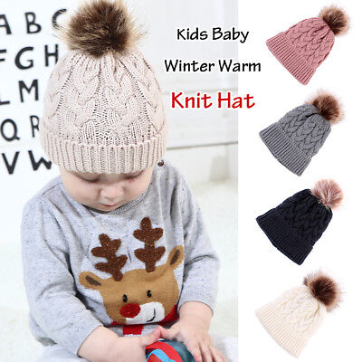 Toddler Kids Girl&Boy Baby Infant Winter Warm Chunky Crochet Knit Hat Beanie Cap