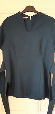 Florence Roby Teal Tunic Size 16 Clinic Beauty