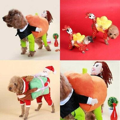 Funny Pet Dog Cat Clothes Carrying Pumpkin Costume Fancy Puppy Apparel Jacket
