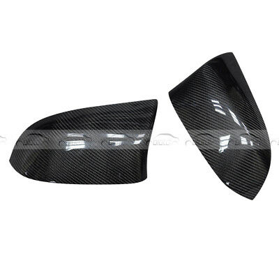 For BMW F15 F16 X5 X6 Replacement Rear Side Mirror Cover Caps Carbon Fiber 14-16