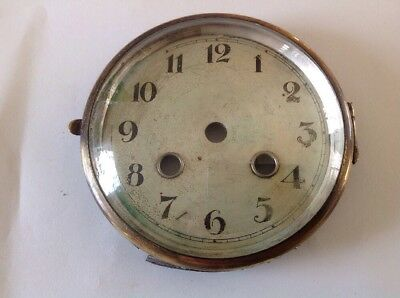 Antique Clock Brass Bezel Domed Convex Glass 105mm Diam To Fit Aperture 100mm